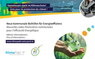 Neue kommunale Beihilfen für Energieeffizienz – Nouvelles aides financières communales pour l'efficacité énergétique