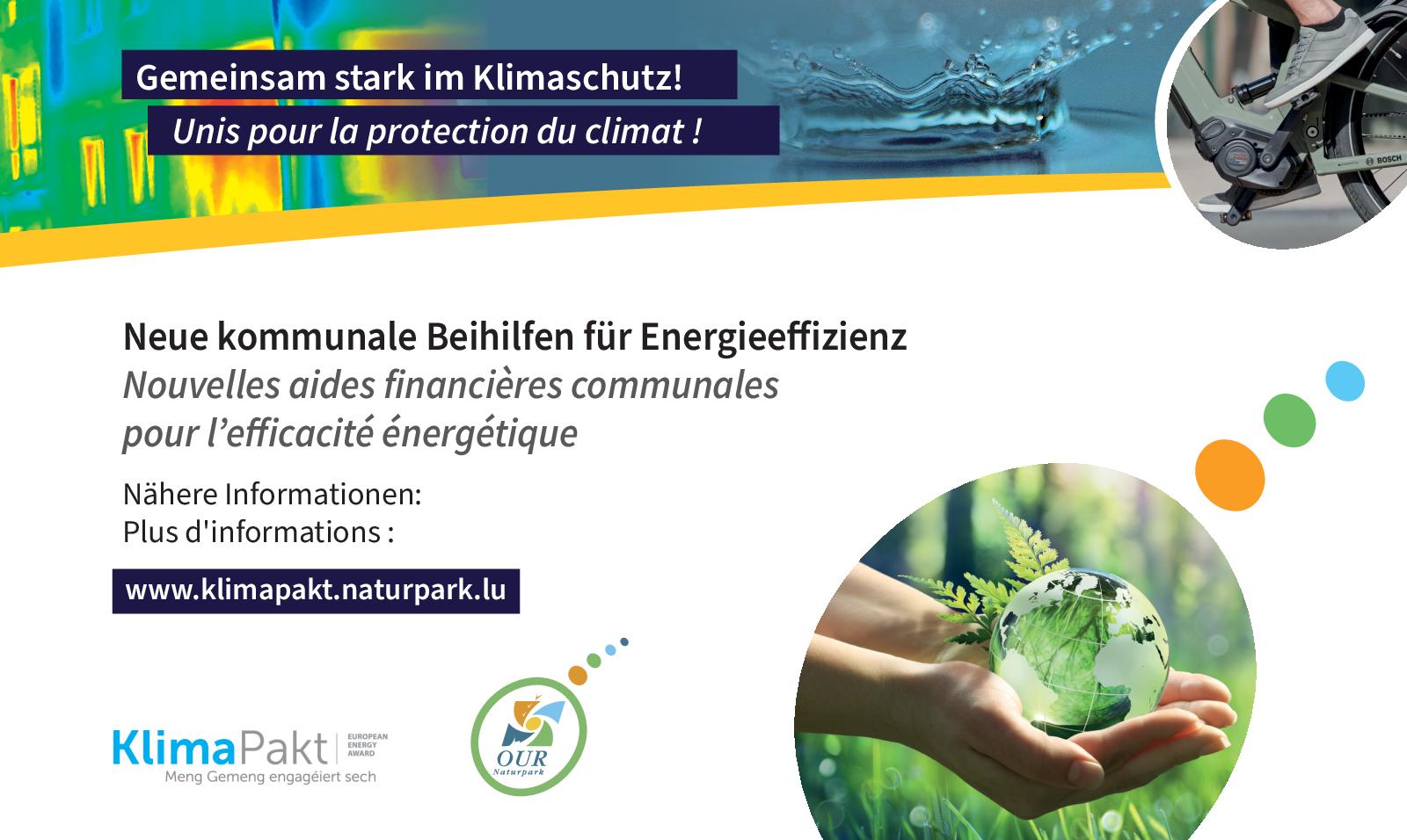 Neue kommunale Beihilfen für Energieeffizienz - Nouvelles aides financières communales pour l'efficacité énergétique