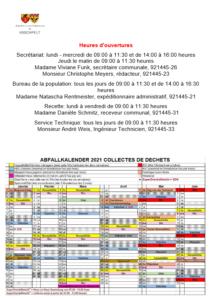 Offallkalenner / Calendrier de déchets 2021