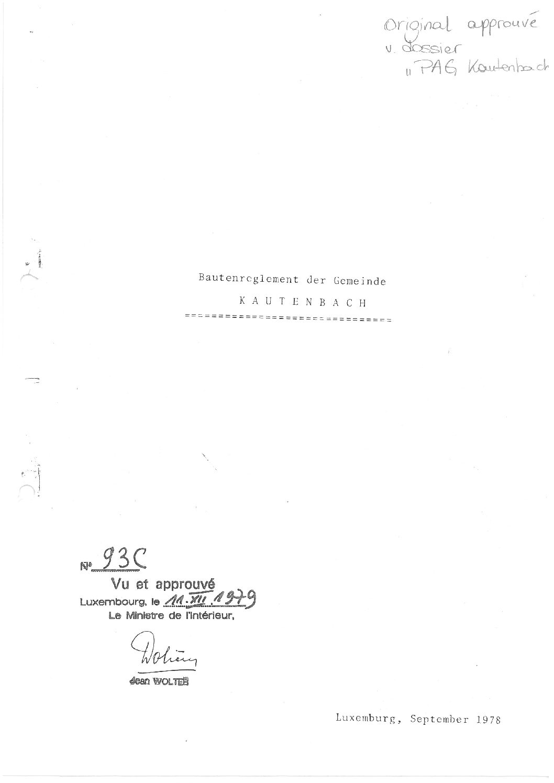 Règlement de bâtisses Kautenbach