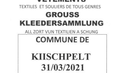 Grouss Kleedersammlung / Ramassage de vêtements